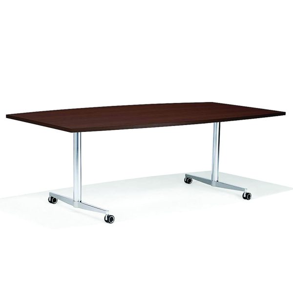 6000 San_Siro Rectangular Meeting Table with castors