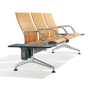 7000 Terminal Seating made of beech with rectangular table