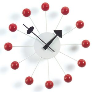 Ball Wall Clock in Orange