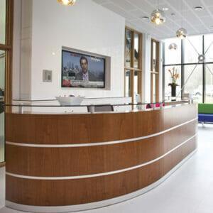 Custom Corian Reception Desk