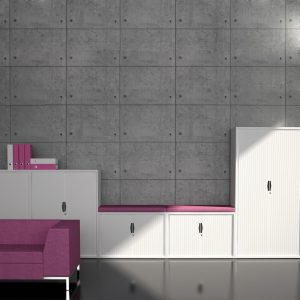 Freedom Side Tambour Office Cabinet Sizes