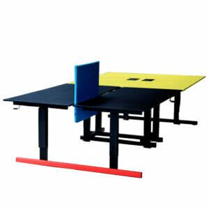 Grid Height Adjustable Bench Desks