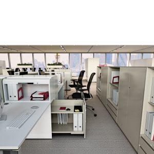 Vertical File h710 Desk Side Pedestal