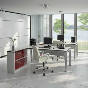 Linnea Desks with additional working space area
