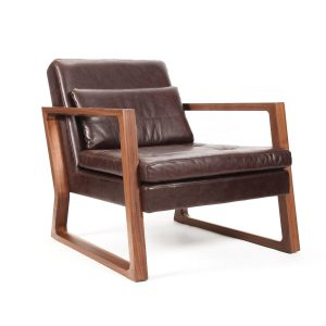 Luge Leather Armchair