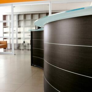 Luna Curved Reception Desks