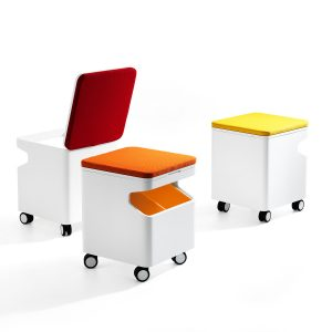 Meet Mobile Pedestal With Seat Pad