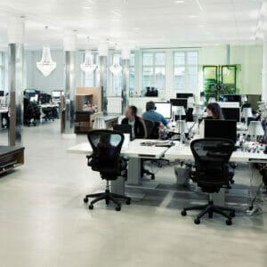 Milk Office Desks by Holmris