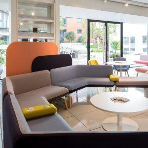 Myriad Sofa Work Place Huddle Solution