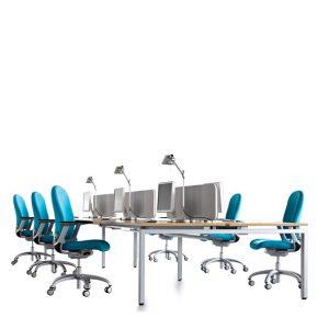 Oblique Visual Bench Desks