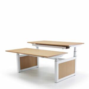 Oblique Adapt Height Adjustable Double Desk