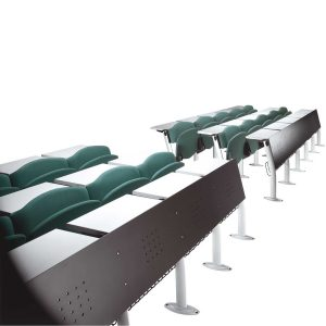 Omnia Lecture Hall Seating with perforated steel panel