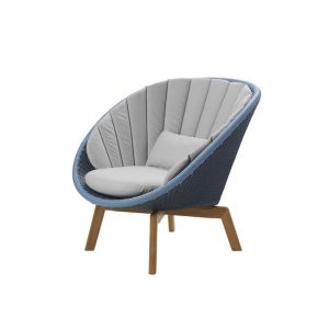 Peacock Lounge Chair with dark grey cushioning