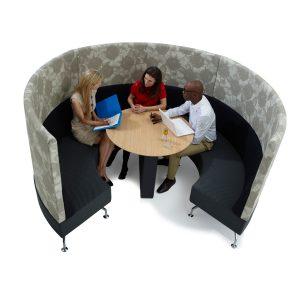 Perimeter High Back Acoustic Sofa