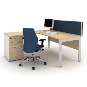 Qore Office Desk and Storage