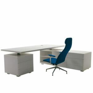 Senior Executive Desk with Return Cabinet
