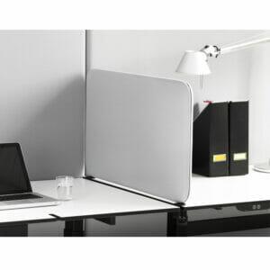 Softline rectangular desk screen