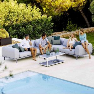 Space 2-Seater Module Sofa with backrest