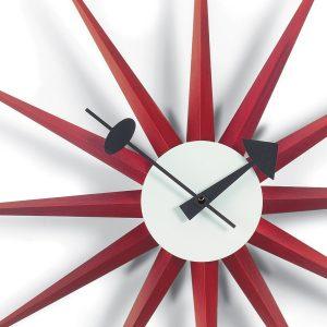 Red Sunburst Clock