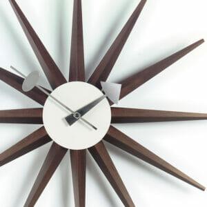 Walnut Sunburst Wall Clock