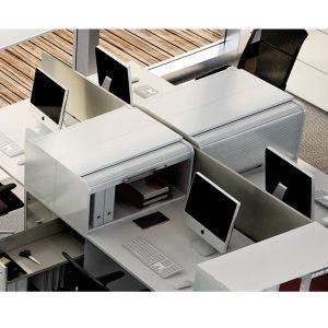 Vertical File Tambour Door Desktop Storage