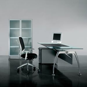 Tiper Glass Executive Desk
