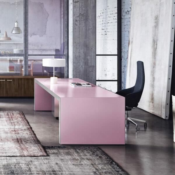 Sinetica Vogue Executive Pink Office Desk