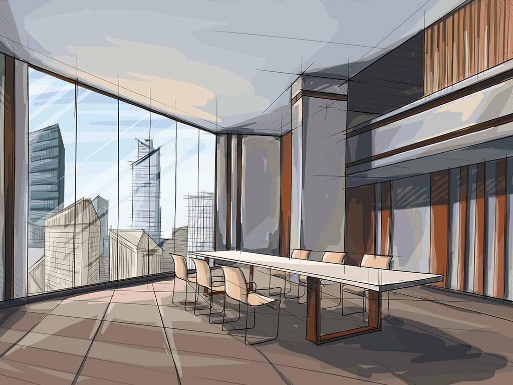 Office Design Illustration