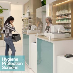 Hygiene Protection Screen In Spa Counter